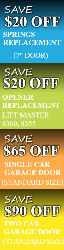 GARAGE DOOR REPAIR COUPONS